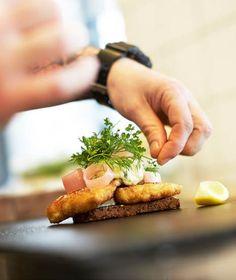 Open sandwich w. Sandwich Cake, Sandwiches, Tapas, Deli, Restaurant, Bread, Food, Gourmet, Food Food