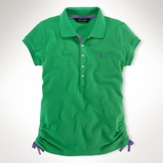 Ruched Polo shirt