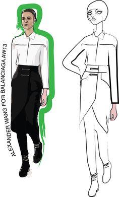 Fashion Illustration - Adobe Illustrator Exercise Hochschule Trier Germany Semester 4