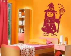 Little Witch wall decal, wall sticker, wall tattoo. styleandapply.com