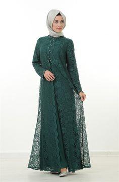 Kebaya Muslim, Muslim Dress, Abaya Designs, Dress Brukat, Lace Dress, Estilo Abaya, Hijab Abaya, Abaya Mode, Moslem Fashion