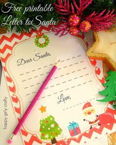 Letter to Santa! (free printable)