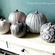 elegant pumpkins in silver and of course black and white!!
