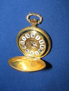 Working Vintage Ladies Elgin 975 Pocket Watch 17 Jewels Needs Case Open Stem #Elgin