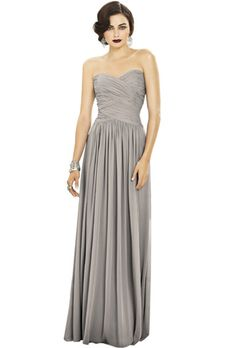 Brides.com: . Style 2880, lux chiffon bridesmaid dress, $170, Dessy Collection available at Weddington Way