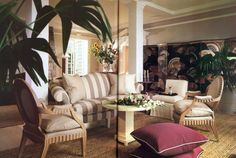 Angelo Donghia's own Connecticut house Architectural Digest April 1986