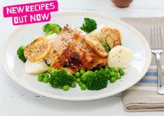 Lemon and Thyme Roast Chicken recipe - Easy Countdown Recipes Creamy Chicken Pasta, Chicken Broccoli, Low Carb Recipes, New Recipes, Cooking Recipes, Baked Chicken Pieces, Chicken Cooking Times, Basil Pasta, Roast Chicken Recipes
