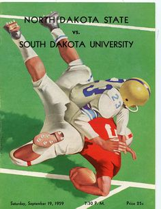 https://flic.kr/p/cR8EJd | Football Program vs. USD - 1959 | Description: Football program.  North Dakota State vs. the University of South Dakota.  The NDSU Bison tied USD with a final score of 22 to 22 on Dacotah Field.  For the 1959 season, the Bison went 4-4-1.  Date of Original: September 19, 1959  Item Number: SIR-1931-1994.22. 10 - 1959  Ordering Information:  library.ndsu.edu/archives/collections-institute/photograp...