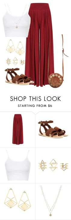 """""""Untitled #1585"""" by musicfasionbooks ❤ liked on Polyvore featuring Ancient Greek Sandals, Topshop, Charlotte Russe, LC Lauren Conrad, Fendi, women's clothing, women, female, woman and misses"""