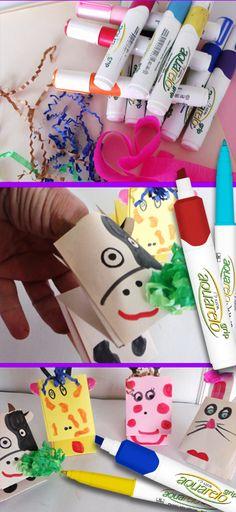 Marionetas de dedo, un proyecto más para las vacaciones de los niños.