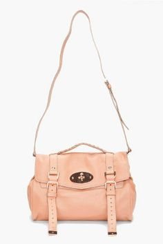 Plaster Pink with Rose Gold Tone - Mulberry Alexa Messenger Bag ($945)