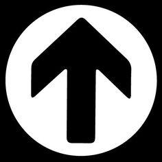 Direction Arrow Round Symbol Vinyl Sticker Decal Car Bumper Helmet by Osarix #AveryDennisonVinyl