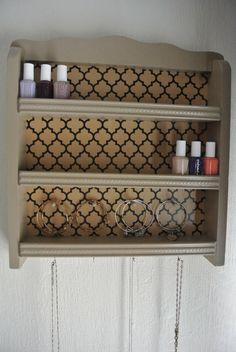 Nail Polish Storage Shelf by Katidids1019 on Easy. Hang on bathroom wall