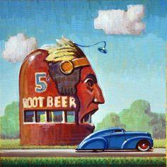 """Daily Paintworks - """"Root Beer"""" by Robert LaDuke"""