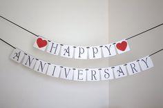 Wedding banner golden anniversary silver anniversary sign bunting