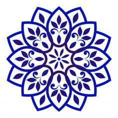 Decorative floral mandala vector image on VectorStock Mandala Design, Mandala Floral, Motif Floral, Stencil Patterns, Stencil Designs, Pattern Art, Embroidery Patterns, Pattern Flower, Doodle Patterns