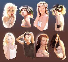 Stunning Girls Illustration / Fantastica Illustrazione Ragazze - Art by mannequin-atelier on deviantART
