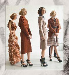color palette for autumn fashion | rodarte