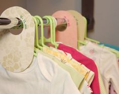 baby clothes dividers; I have so got to make some of these
