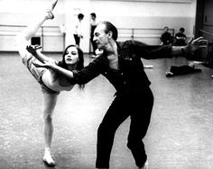 The great choreographer George Balanchine and his muse, Suzanne Farrell. 1968.