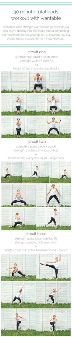tone your bod and look good doing it with this equipment-free, 30 minute strength-and-cardio circuit brought to you by wantable fitness.