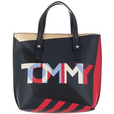 fcf42539c5 Tommy Hilfiger Handle Bag - Effortless Tote Small Corp Mix - in red