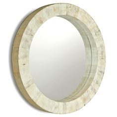 Kismet Coastal Beach Round Chunky Mango Driftwood Mirror - transitional - Mirrors - Kathy Kuo Home Coastal Rugs, Modern Coastal, Coastal Cottage, Coastal Homes, Coastal Style, Coastal Decor, Coastal Mirrors, Coastal Bedding, Coastal Farmhouse