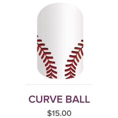 cool Curveball Jamberry NailWrap ⚾️