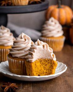 Pumpkin Bundt Cake, Pumpkin Cupcakes, Pumpkin Bread, Pumpkin Pie Spice, Cream Cheese Glaze, Soften Cream Cheese, Cupcake Recipes, Cupcake Cakes, Cupcakes With Cream Cheese Frosting