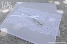 #Lace #WeddingInvitation by www.lavastationery.com.au