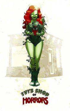 Poison Ivy and Audrey II. match made in heaven Comic Book Characters, Comic Character, Comic Books, Dc Poison Ivy, Misfit Toys, Little Shop Of Horrors, Geek Out, The Villain, Gotham City
