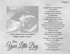 Father's Day Gift for Expecting Dad From by foxcreationsonline