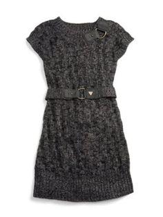 Knit Sweater Dress with Belt #kids