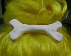 XL lifesize Pebbles Flinstone bone hair clip by UrbanDollHouse2010