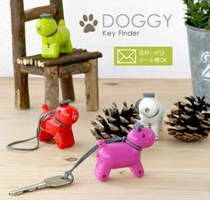 Doggy Key Finder  For the absentminded dog lovers out there comes this handy and adorable little guy. Attach him to your key ring and the next time you misplace them, just clap your hands and the pup will remind you where they're at! As an added bonus, his LED nose lights up when you press on his ears – perfect for finding the key hole in a darkened entryway.