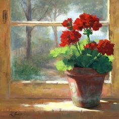 "Linda's Witness in Art: ""Geraniums in the Cottage"""