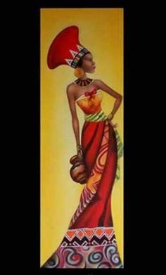 Óleo sobre tela - Africana