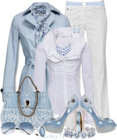 """Light Blue and White"" by kelley74 on Polyvore"