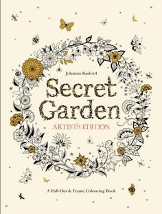 FREE US SHIPPING Secret Garden Artist& Edition 20 Drawings to Color & Frame : Johanna Basford coloring books wall art doodling doodles ink by thecottageneedle Secret Garden Coloring Book, Secret Garden Book, Adult Coloring, Coloring Books, Coloring Pages, Johanna Basford Jardin Secret, Holiday Gift Guide, Holiday Gifts, Cool Gifts For Women