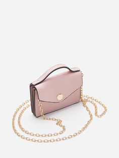 Torebka mini na łańcuszku, HOUSE, XZ979-03X I Love House, Mini Bag, Branding, Wallet, Chain, Pink, Bags, Handbags, Brand Management