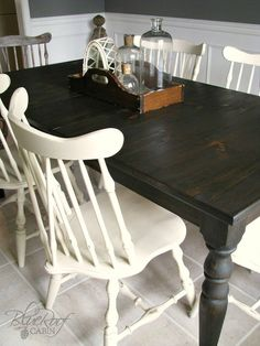 Custom Dark Stained Farm Table