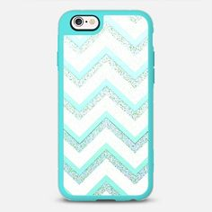 MINT CHEVRON by Monika Strigel iPhone 6s - New Standard Case  #iphone6 #iphonecase #phonecase #phonecover #cover #case #monikastrigel #monikastrigelcases #casetify #transparent #samsung #samsungcases #htc #nokia #redme #ipad #ipadcase #girls #girly #ziczac #green #blue #white #mint #chevron