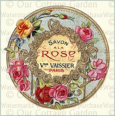 vintage perfume label images | Antique FRENCH Perfume Labels * ROSES | Our Cottage Garden