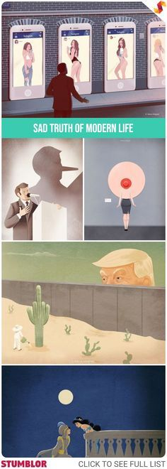 Marco Melgrati - Illustrations About The Sad Truth Of Modern Life #truth #modernlife #life #illustrations #illustration #artist #marco #marcomelgrati
