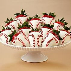 Love these baseball strawberries