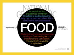 National Geographic has spent this year focusing on food. In celebration of World Food Day, we are making the magazine's food stories available in a FREE app for iPad®.    Apple, ...