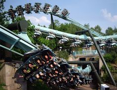 Air - Alton Towers, looks great but is definitely photoshoped. Air can't have all three trains simultaneously on the track.