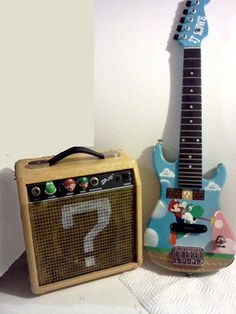 Awesome Super Mario Bros Guitar and Question Block Amp