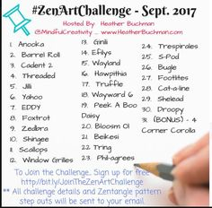 Join the ZenArtChallenge! Check out my shop and grab my tangle a day book to easily follow along with us.