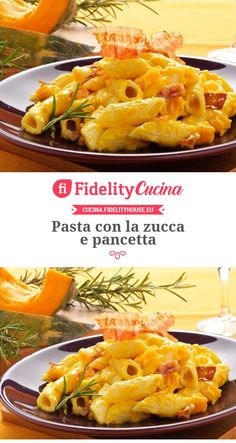 Pasta con la zucca e pancetta - Mode Italiano Cooking Temp For Beef, Cooking Meme, Cooking Panda, Cooking Bacon, Cooking Oil, Cooking Boneless Pork Chops, Cooking Pork Roast, How To Cook Broccoli, How To Cook Rice